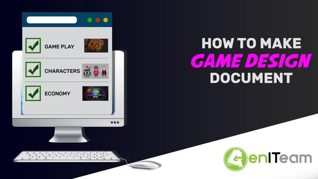 How to write a game design document