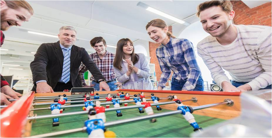 Picture shows how employees can interact through games